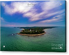 Nobska Lighthouse Panorama Acrylic Print