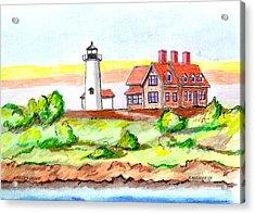 Nobska Point Lighthouse Acrylic Print by Paul Meinerth