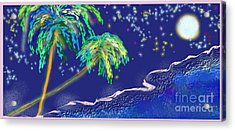 Acrylic Print featuring the painting Noche Tropical by The Art of Alice Terrill