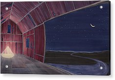 Nocturnal Barnscape Acrylic Print