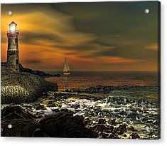 Nocturnal Tranquility Acrylic Print by Lourry Legarde