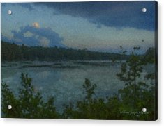 Nocturne At Ames Long Pond Acrylic Print