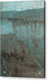 Nocturne In Blue And Gold Valparaiso Acrylic Print by James Abbott McNeill Whistler
