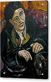 Nod To Gertrude And Picasso Acrylic Print by Dan Earle