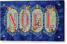 Noel Acrylic Print by Stanley Cooke