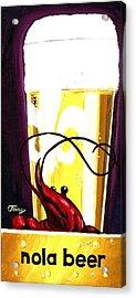 Nola Beer Acrylic Print by Terry J Marks Sr