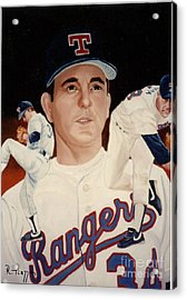 Acrylic Print featuring the painting Nolan Ryan Medley by Rosario Piazza