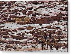 Nomads Of The Sinai Desert Acrylic Print
