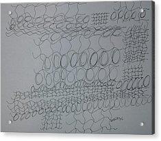 Non-obective Design 104 Acrylic Print by B L Qualls