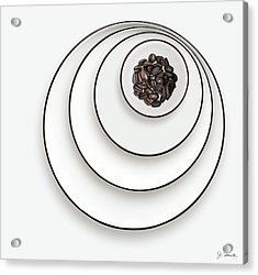 Acrylic Print featuring the photograph Nonconcentric Dishware And Coffee by Joe Bonita