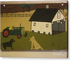 Acrylic Print featuring the painting Nook And Brutus by Jeffrey Koss