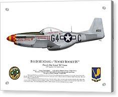 Nooky Booky I V - P-51 D Mustang Acrylic Print by Ed Jackson
