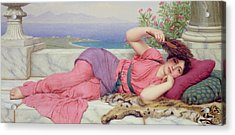 Noon Day Rest Acrylic Print by John William Godward
