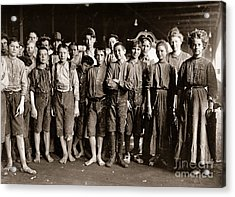Noon Hour Workers In Enterprise Cotton Mill Acrylic Print by Celestial Images