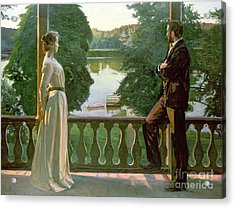 Nordic Summer Evening Acrylic Print by Sven Richard Bergh
