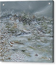 Acrylic Print featuring the painting Nor'easter by Judith Rhue