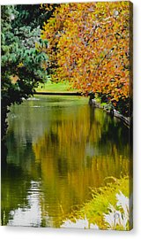 Norfolk Botanical Gardens Canal 11 Acrylic Print by Lanjee Chee