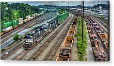 Acrylic Print featuring the photograph Norfolk Southern Locomotive #2665 Atlanta Inman Intermodal Yard Art by Reid Callaway