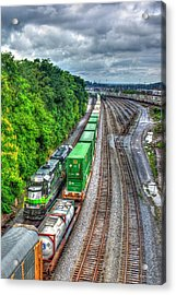 Acrylic Print featuring the photograph Norfolk Southern Locomotive 648 Atlanta Train Art by Reid Callaway