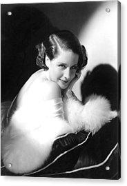 Norma Shearer, Ca. 1930s Acrylic Print by Everett