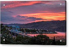 Normal Hill Sunset Acrylic Print