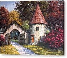Normandy Garden Acrylic Print by Sean Conlon
