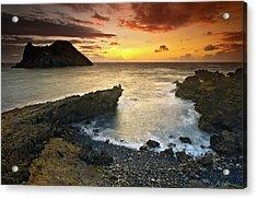 Noronha Sunrise Acrylic Print by Marcio Cabral