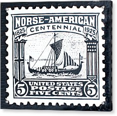 Norse-american Centennial Stamp Acrylic Print by James Neill