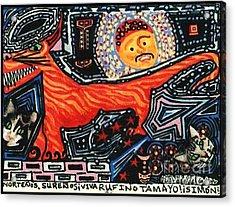 Nortenos Surenos Viva Rufino Tamayo Simon Acrylic Print