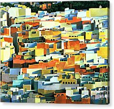 North African Townscape Acrylic Print by Robert Tyndall