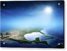North America Sunrise Aerial View Acrylic Print