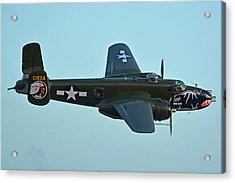 North American B-25j Mitchell N5672v Betty's Dream Chino California April 29 2016 Acrylic Print by Brian Lockett