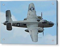 Acrylic Print featuring the photograph North American B-25j Mitchell N9856c Pacific Princess Chino California April 30 2016 by Brian Lockett