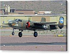 Acrylic Print featuring the photograph North American B-25j Mitchell Nl3476g Tondelayo Deer Valley Arizona April 13 2016 by Brian Lockett