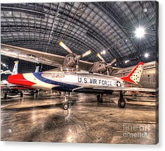 North American F-100d Super Sabre, Thunderbirds Acrylic Print