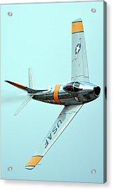 North American F-86f Sabre Nx186am Chino California April 29 2016 Acrylic Print by Brian Lockett