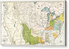 North American Indian Tribes, 1833 Acrylic Print by Wellcome Images