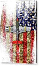North American Mustang P-51b Acrylic Print