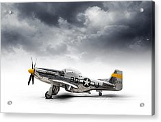 Acrylic Print featuring the digital art North American P-51 Mustang by Douglas Pittman
