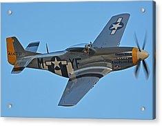 North American P-51d Mustang Nl151hr Chino California April 29 2016 Acrylic Print by Brian Lockett