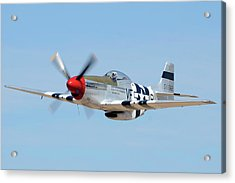 North American P-51d Mustang Nl5441v Spam Can Valle Arizona June 25 2011 1 Acrylic Print by Brian Lockett