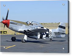 North American P-51d Mustang Nl5441v Spam Can Valle Arizona June 25 2011 3 Acrylic Print by Brian Lockett