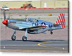 Acrylic Print featuring the photograph North American Tp-51c-10 Mustang Nl251mx Betty Jane Deer Valley Arizona April 13 2016 by Brian Lockett