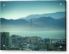 North Beach And Golden Gate Acrylic Print by Hal Bergman Photography
