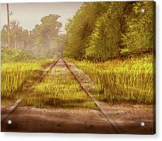 Acrylic Print featuring the digital art South-bound Tracks by Barry Jones