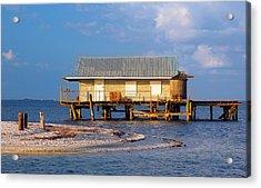 North Captiva Island Last Stilt House Standing Acrylic Print