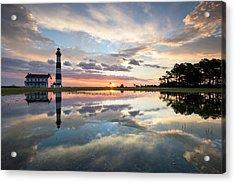 North Carolina Bodie Island Lighthouse Sunrise Acrylic Print by Mark VanDyke