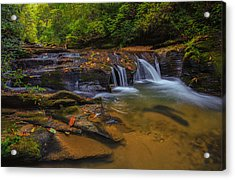 North Carolina Cascade Acrylic Print