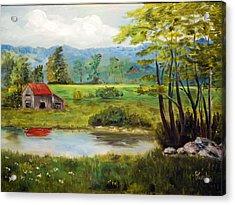 North Carolina Farm Acrylic Print by Phil Burton