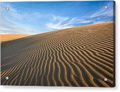 North Carolina Jockey's Ridge State Park Sand Dunes Acrylic Print by Mark VanDyke